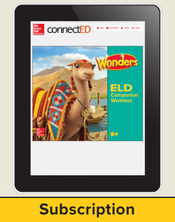 Wonders for English Learners Student Workspace, Grade 3, 6 Yr Subscription