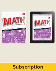 Glencoe Math, Course 3, Complete Student Bundle, 1-year subscription