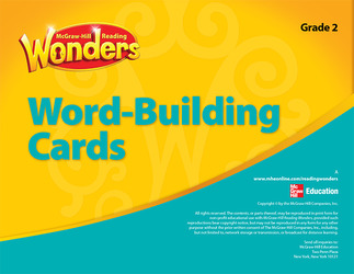 Reading Wonderworks Word-Building Cards (Small) Grade 2