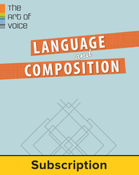 Muller, Language & Composition: The Art of Voice, 2014, 1e, Student Bundle (Student Edition with ConnectED eBook), 6-year subscription
