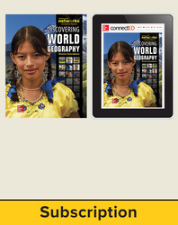 Discovering World Geography, Western Hemisphere, Complete Classroom Set, Print and Digital 6-Year Subscription