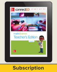 Inspire Science Grade 4, Online Teacher Center, 1-Year Subscription