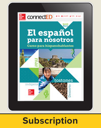 El Español para Nostros Level 2 2014 Online Student Edition 6 year subscription