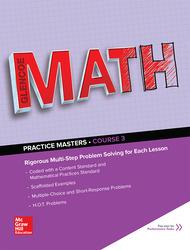 Glencoe Math, Course 3, Common Core Practice Masters Flipbook