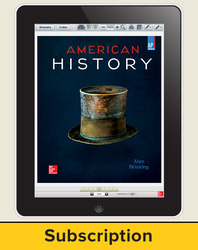 Brinkley, American History: Connecting with the Past, AP Edition ©2015 15e, ConnectED eBook, 6-year subscription