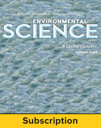 Cunningham, Environmental Science: A Global Concern © 2015 13e, ConnectED eBook, 1-year subscription