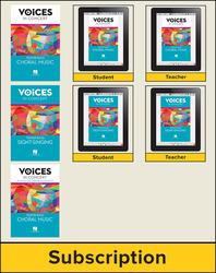 Hal Leonard Voices in Concert, Level 3 Tenor/Bass Digital Bundle, 6 Year