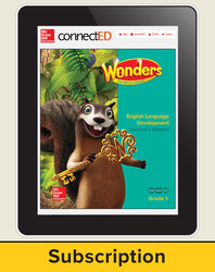 Wonders for English Learners Teacher Workspace, Grade 1, 6 Yr Subscription