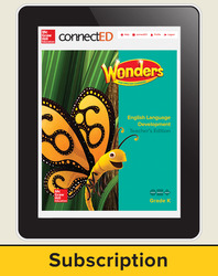Wonders for English Learners Teacher Workspace, Grade K, 6 Yr Subscription