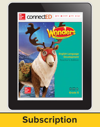 Wonders for English Learners Teacher Workspace, Grade 5, 6 Yr Subscription