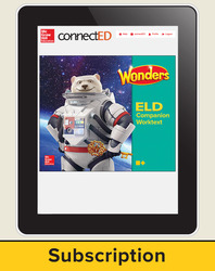 Wonders for English Learners Student Workspace, Grade 6, 6 Yr Subscription