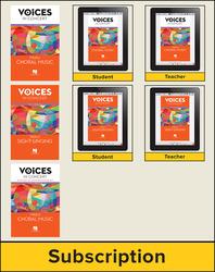 Hal Leonard Voices in Concert, Level 4 Treble Hybrid Bundle, 6 Year