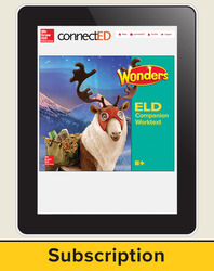 Wonders for English Learners Student Workspace, Grade 5, 6 Yr Subscription