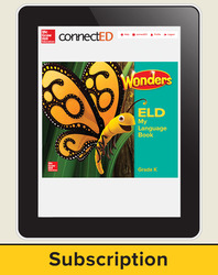Wonders for English Learners Student Workspace, Grade K, 6 Yr Subscription