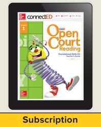 Open Court Reading Foundational Skills Kit Teacher License, 3-year subscription Grade 1