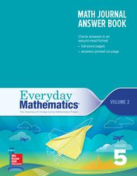 Everyday Mathematics 4th Edition, Grade 5, Math Journal Answers Teacher Book Volume 2