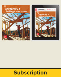 Glencoe Carpentry and Building Construction, Print Student Edition and Online SE Bundle, 1 year subscription