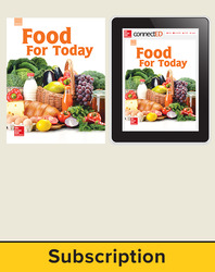 Glencoe Food for Today, Print Student Edition and Online SE Bundle, 1 year subscription
