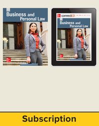Glencoe Business and Personal Law, Print Student Edition and Online SE Bundle, 1 year subscription