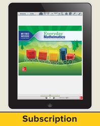 Everyday Mathematics 4, Grade K, All-Digital Student Material Set, 1 Year