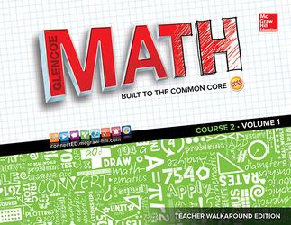 Glencoe Math, Course 2, Teacher Walkaround Edition, Volume 1