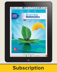 Everyday Mathematics 4, Grade 2, All-Digital Student Material Set - 5 Year Subscription