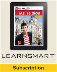 Asi se dice! Level 2, Student Edition Embedded LearmSmart, 6-year subscription