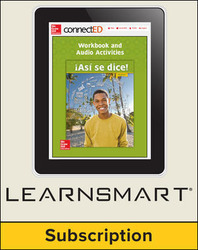 Asi se dice! Level 3, Student Edition Embedded LearmSmart, 6-year subscription