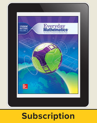 Everyday Mathematics 4, Grade 6, All-Digital Student Material Set, 1 Year