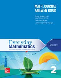 Everyday Mathematics 4th Edition, Grade 2, Math Journal Answers Teacher Book Volume 1