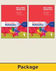 Everyday Mathematics 4, Grade 1, Journal Answer Books (Vol 1 & 2)