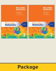 Everyday Mathematics 4, Grade 3, Journal Answer Books (Vol 1 & 2)