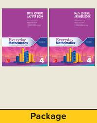Everyday Mathematics 4, Grade 4, Journal Answer Books (Vol 1 & 2)