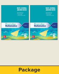 Everyday Mathematics 4, Grade 5, Journal Answer Books (Vol 1 & 2)