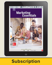 Glencoe Marketing Essentials, Online Student Edition, 1 year subscription