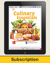 Glencoe Culinary Essentials, Online Student Edition, 1 year subscription