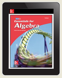 Essentials for Algebra Student Textbook, 1-year eBook and 1-year ALEKS susbscription