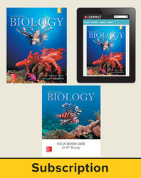 Mader, Biology © 2016, 12e (Reinforced Binding) Premium Print Bundle (Student Edition with AP Focus Review Guide, Connect®), 1-year subscription