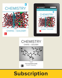 Chang, Chemistry © 2016 12e, Premium Print Bundle (Student Edition with AP Focus Review Guide, Connect®), 1-year subscription
