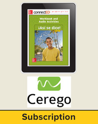 Asi se Dice Level 3, Student Learning Center with Cerego Bundle, 6-year subscription