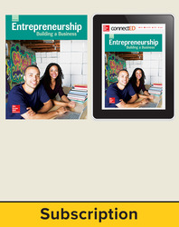 Glencoe Entrepreneurship: Building a Business, Print Student Edition and Online SE Bundle, 1 year subscription