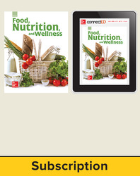 Glencoe Food, Nutrition, and Wellness, Print Student Edition and Online SE Bundle, 6 year subscription