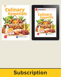 Glencoe Culinary Essentials, Print Student Edition and Online SE Bundle, 6 year subscription
