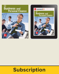 Glencoe Business and Personal Finance, Print Student Edition and Online Bundle, 1 year subscription