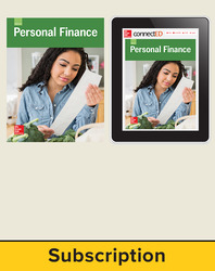 Glencoe Personal Finance, Print Student Edition and Online Bundle, 6 year subscription
