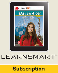 Asi se dice Level 1, Student Learning Center with LearnSmart Bundle, 6-year subscription