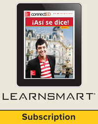 Asi se dice Level 2, Student Learning Center with LearnSmart Bundle, 6-year subscription