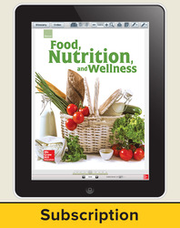 Glencoe Food, Nutrition, and Wellness, Online Teacher Center, 1 year subscription