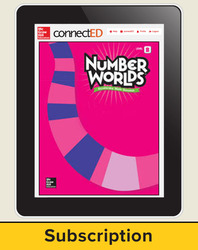 Number Worlds Level B, Student License, 1-year subscription, 5 students