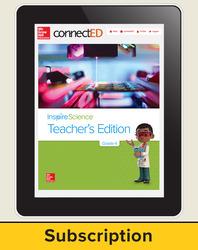 Inspire Science Grade 4, Online Teacher Center, 6-Year Subscription